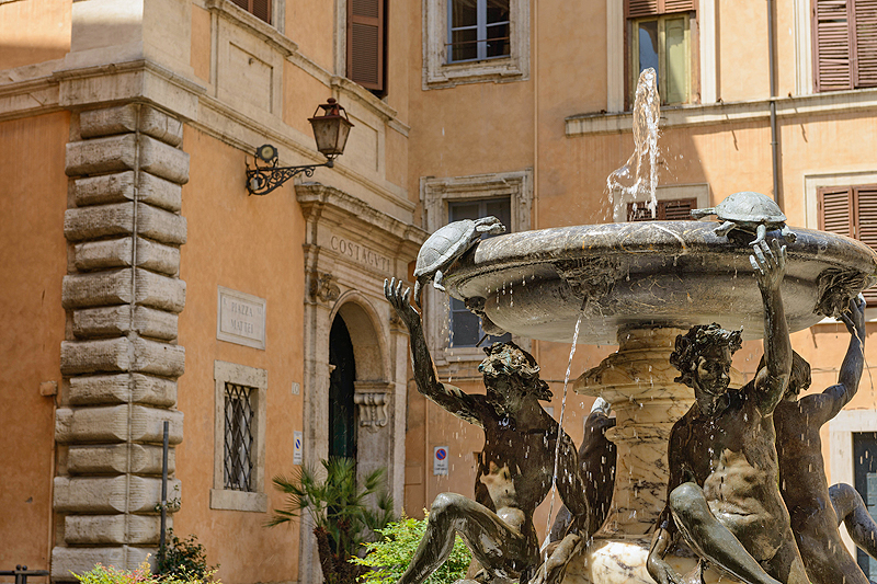 The Turtle Fountain And Piazza Mattei View Of The Rome