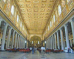 Rome Saint Mary Major Church Santa Maria Maggiore interior
